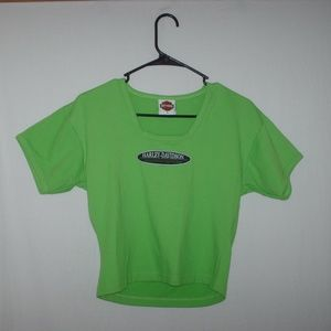 Harley-Davidson gorgeous ladies lime green T-shirt